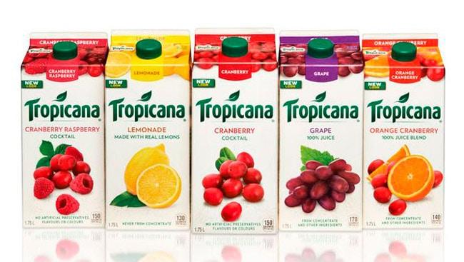 Confezione attuale succhi Tropicana