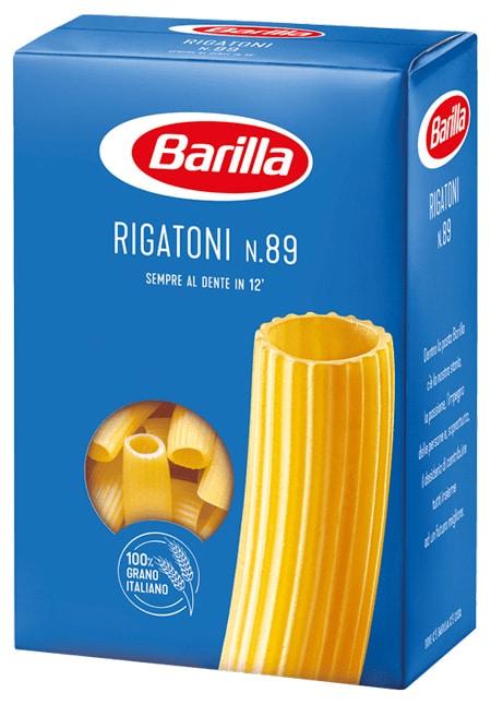 Nuovo packaging rigatoni Barilla grano italiano