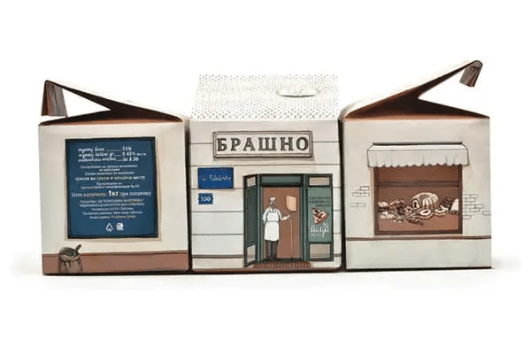 Russian Bakery Packaging That Tells a Story