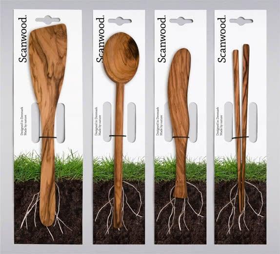 Original Packaging for Wooden Kitchen Utensils