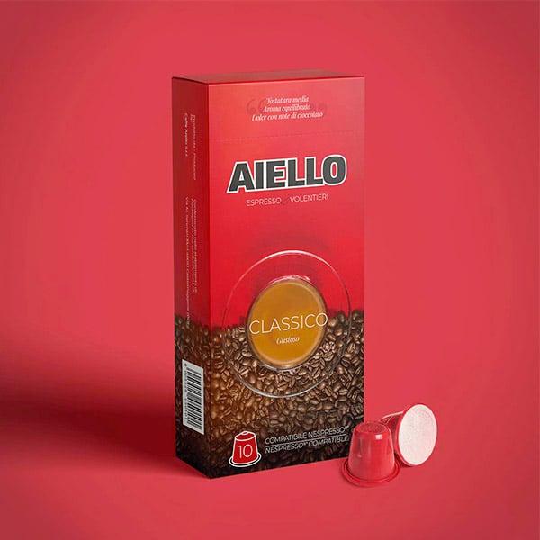 Scatola in cartoncino rossa per caffè