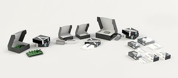 Set completo di valigette e astucci per componenti elettronici