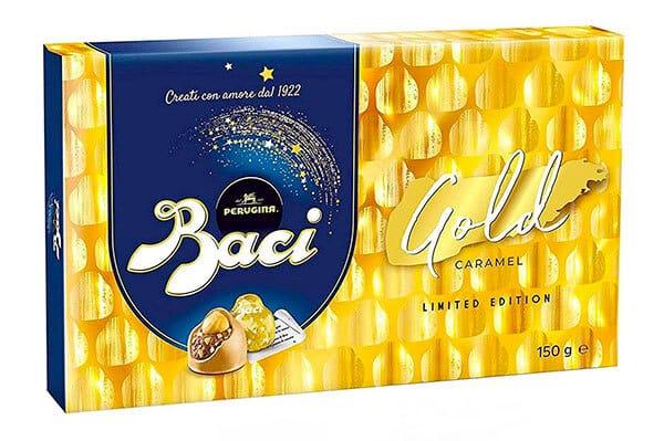 Bacio Perugina Gold with golden embellishment
