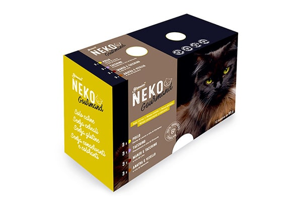 Scatola di cibo per gatti senza glutine
