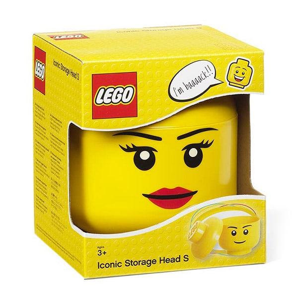 Scatola a cubo con finestra per barattolo Lego