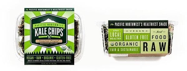 Fascetta per confezione patatine di kale