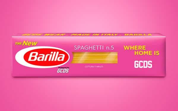 Spaghetti Barilla edizione GCDS