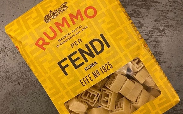 Rummo pasta pack for Fendi show invitation