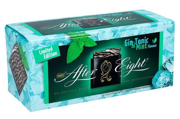 Scatola lineare per cioccolatini al gin e menta