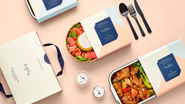 Classy food delivery packaging