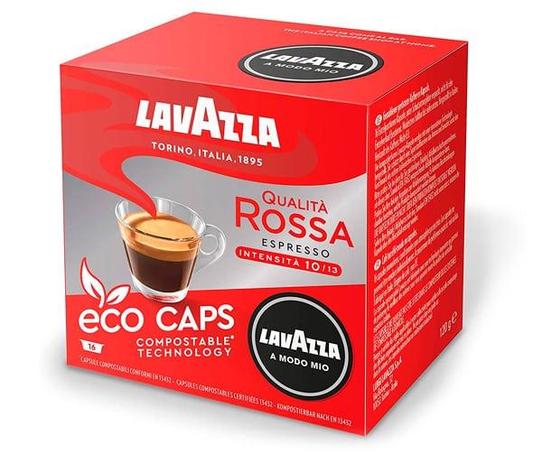 Coffee love brand: Lavazza in red cube