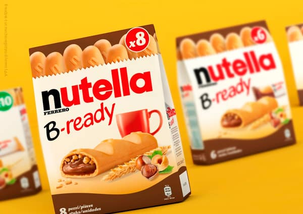 Nutella B-ready snacks in gable top box