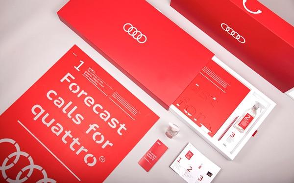 Audi packvertising kit in pull-out box