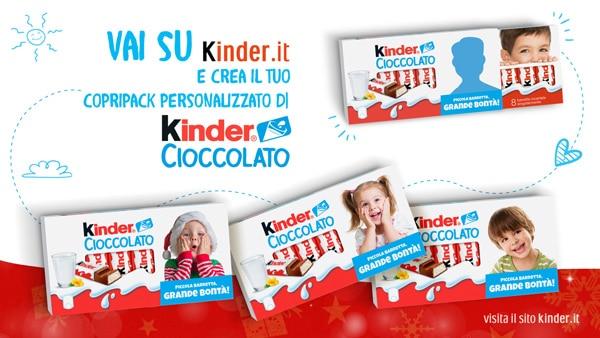 Confezioni barrette Kinder con foto a scelta