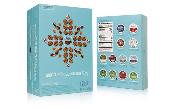Coffee pods packvertising box