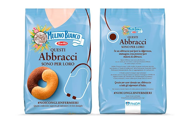 Personalized packaging for nurses by Mulino Bianco