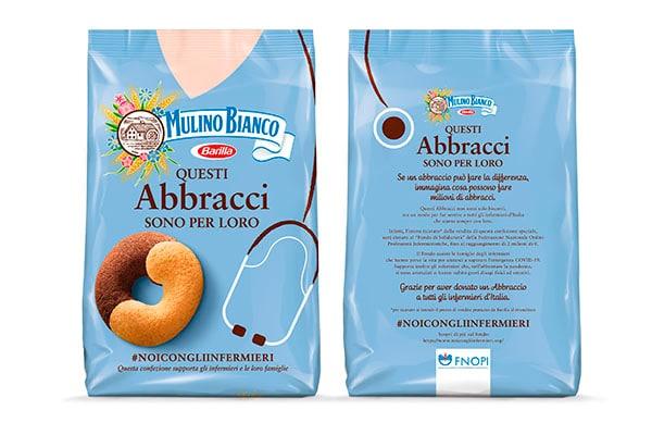 Packaging personalizzato Mulino Bianco per infermieri