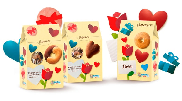 Personalized packaging for Valentine's day by Mulino Bianco