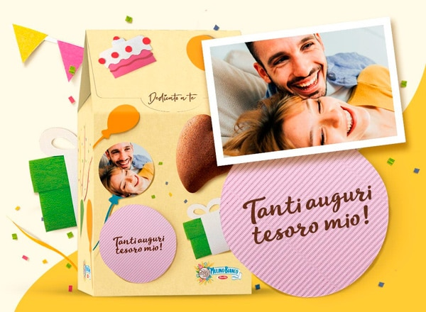 Birthday themed packaging personalization