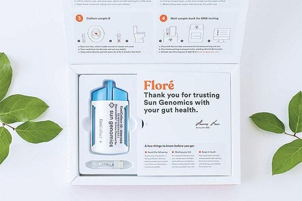 Florè probiotics analyzer inner insert box design