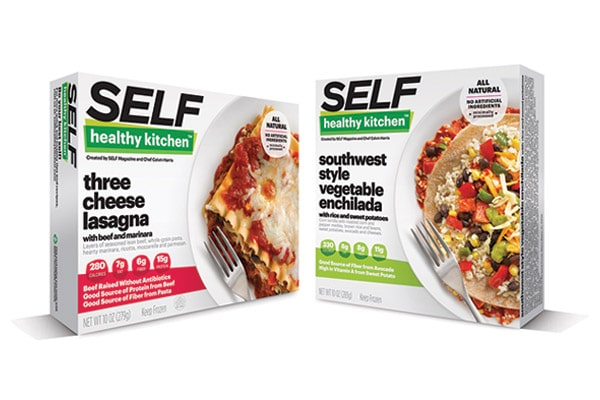 Prepped healthy meals packaging