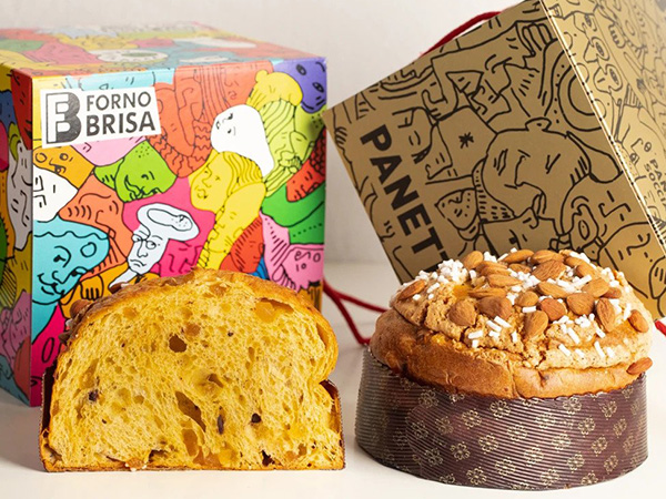 Packaging for Brisa's panettone