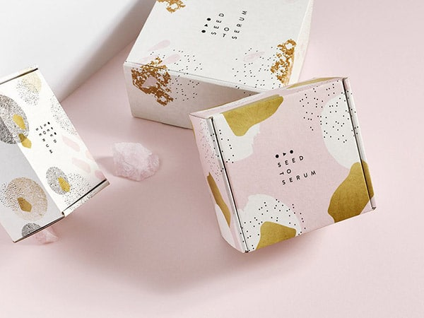 Elegant gold foil boxes ideal for reuse