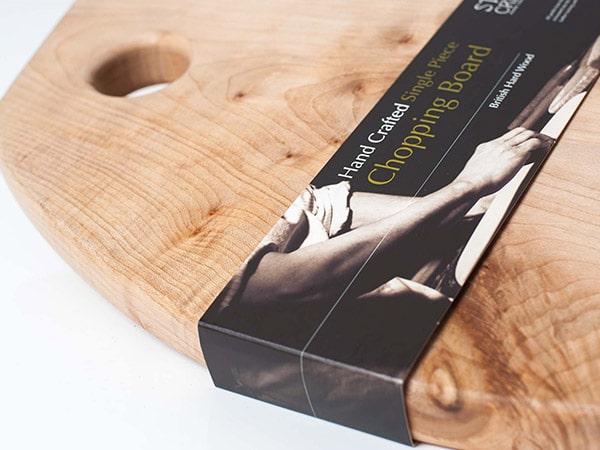 Fascetta sottile per confezione tagliere in legno