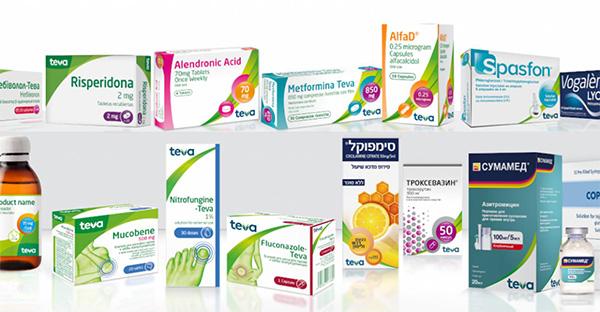 La nuova gamma di medicinali Teva con packaging ridisegnato