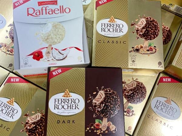 Mixed boxes of new Ferrero ice creams