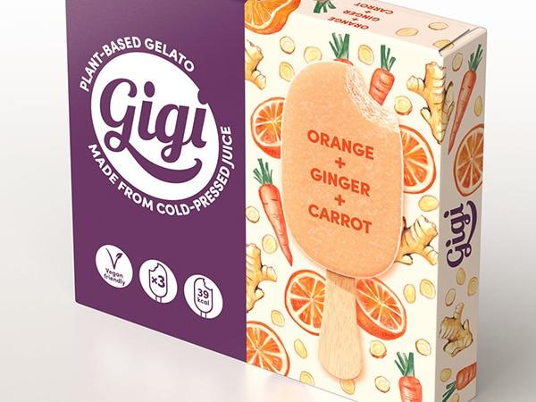 Slim box for vegan ice cream