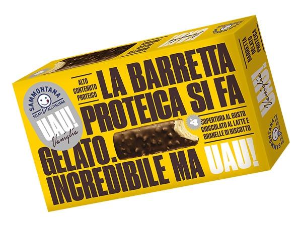 Confezione barretta proteica gelato