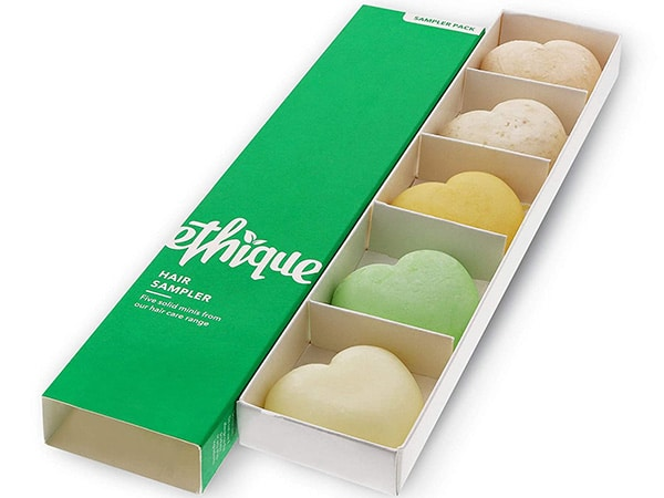 Pull-out box with separators for mini shampoo bars