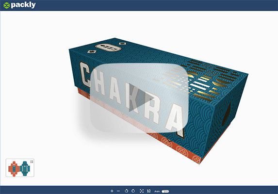 3D preview of the award winning packaging