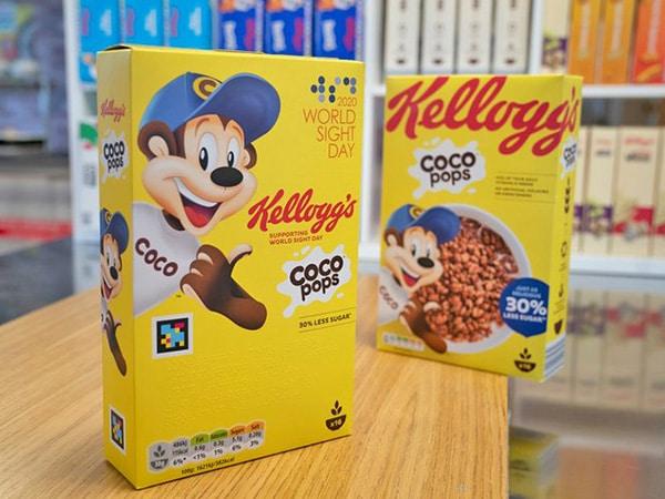 Smart packaging Kellog's per persone ipovedenti
