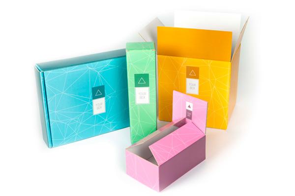 modelli di scatole disponibili in ondulato