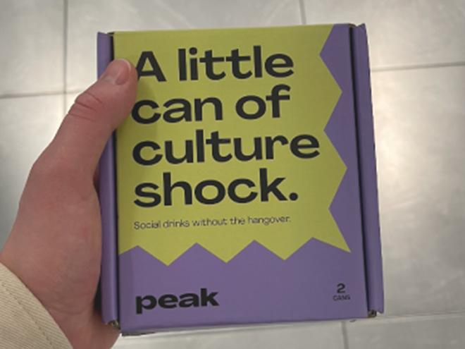 Il teaser sul packaging di Peak