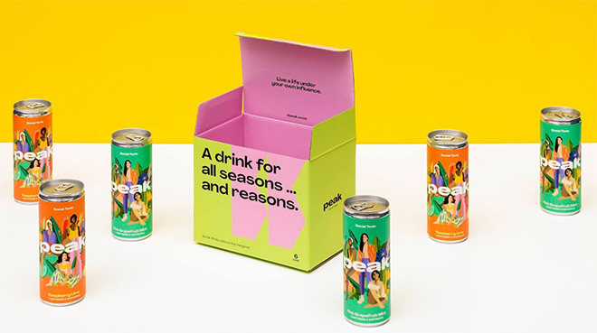 Packaging as a teaser: cans and their tuck-end box