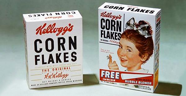 Reduced vintage packaging by Kellog's
