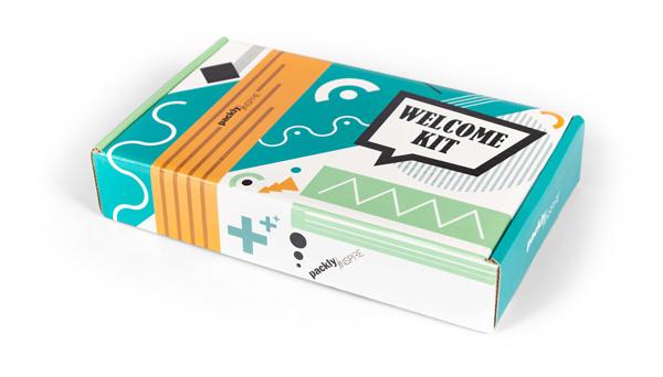 welcome kit ispirazione per valigetta ondulato