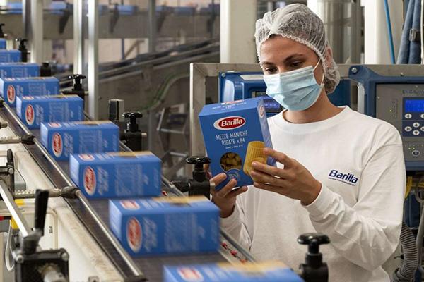 Barilla's pasta packaging line