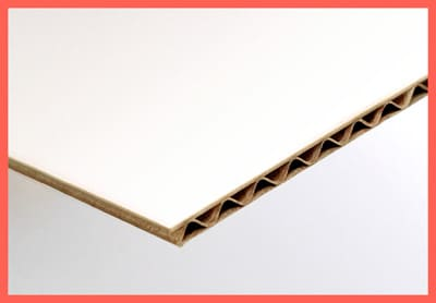 E-flute cardboard available for the box with tube neck locker