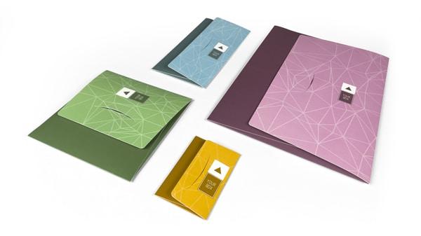 Various formats of flat envelope