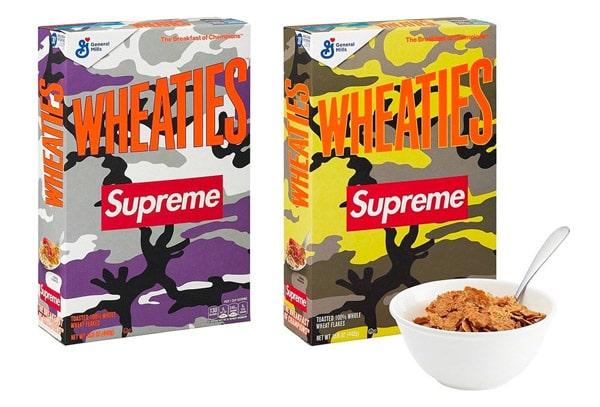 Le due varianti della confezione di cereali Supreme