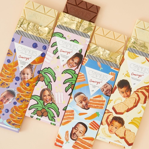 Packaging for testimonial chocolate bars with embellishments