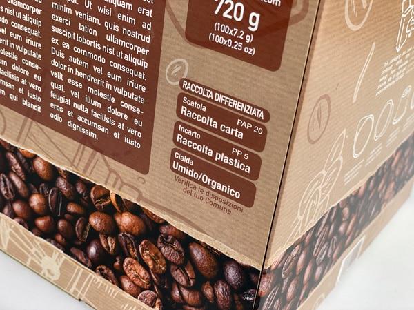 Etichettatura ambientale scatola americana per cialde
