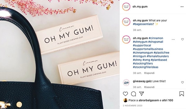 The Instagram campaign by Oh my Gum!
