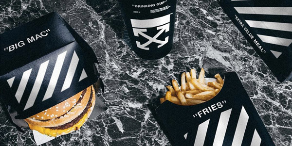 Fast food packaging in limited edition