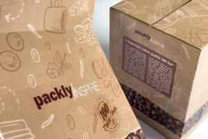 Scatola americana per cialde: l'ispirazione Packly in ondulato