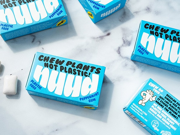 Nuud boxes for vegan chewing gums